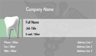 Grey Dentistry Business Card Template